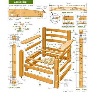 Мебель из дерева схемы и описание